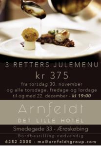 Arnfeldt - juleannonce, Arnfeldt Hotel & Restaurant, Ærøskøbing Ærø Denmark